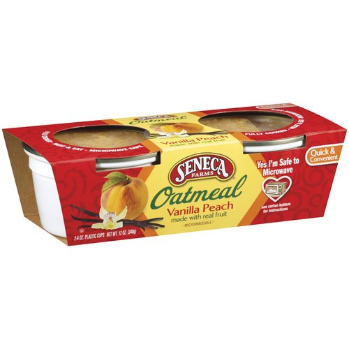 Seneca Vanilla Peach Oatmeal, 6 oz, 2 count