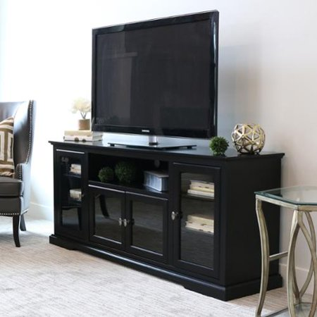 we furniture 70 inch black wood highboy tv stand. Black Bedroom Furniture Sets. Home Design Ideas