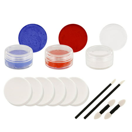 Football Face Paint Ideas (JAYHAWKS Football Basketball FACE PAINTING SET)