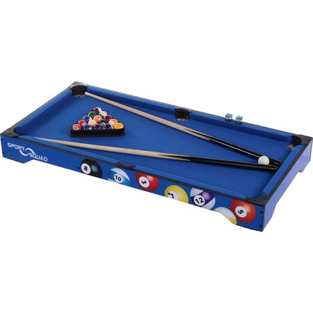 Sport Squad Bx40 40 Inch Table Top Billiard Table Set  Includes 2 Cues  Full Set Of Balls  Chalk  Triangle