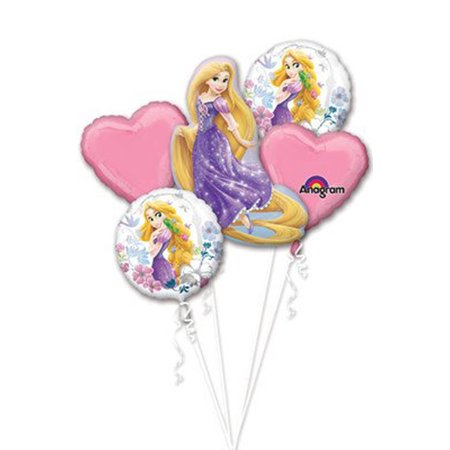 Tangled Sparkle Foil Mylar Balloon Bouquet (5pc)