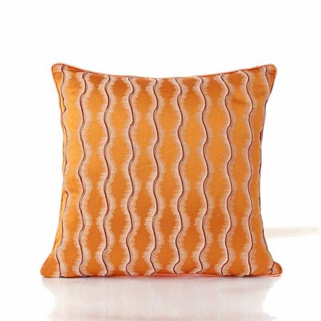 Amazing Rugs PIL-SWO4545 18 x 18 in. Jacquard Perpendicular Reflection Accent Pillow in Orange