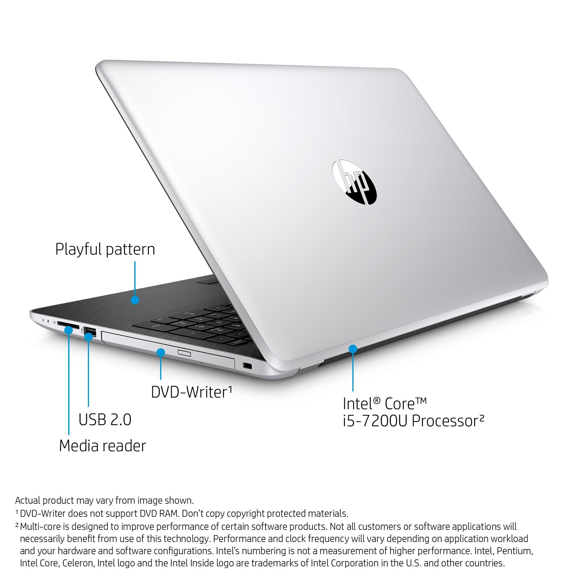 Hp Jaguar 15 Bs070wm 156 Natural Silver Touch Laptop Windows 10 Flashdisk 8gb Best Quality Intel Core I5 7200u Processor Memory 1tb Hard Drive