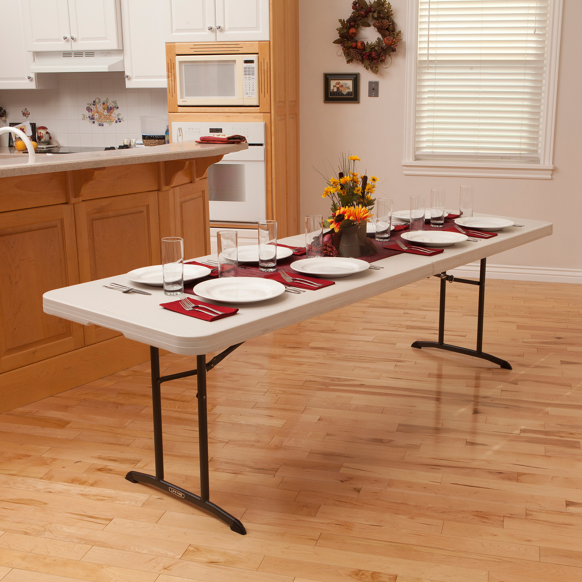 Lifetime 8' Fold-In-Half Table, Almond