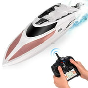 Abco Tech Remote Control RC Boat 2.4GHz 20+ MPH Speed 4 Channel Racing Rose Gold