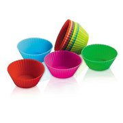 """Zeal Bake & Serve Mini Silicone 2"""" Muffin / Cupcake Cups / Cases - Set of 12"""