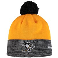 size 40 f1eb8 2a76e Product Image Pittsburgh Penguins Reebok 2017 Stadium Series Goalie Cuffed  Knit Hat With Pom - Yellow Heather