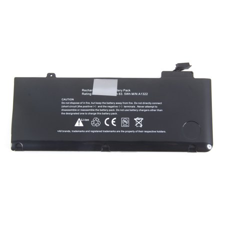 Apple Aluminum Rechargeable Battery - 10.95V 5800mAh Rechargeable Li-ion Battery for Apple A1322 Black (Silicone Case)