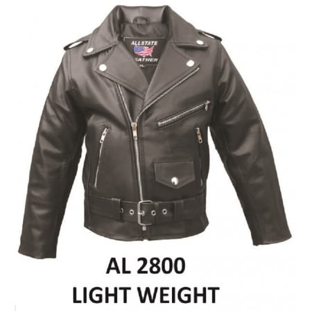 Kid's Fashion Medium Size basic motorcycle jacket in soft Lambskin Leather With Belt Buckle