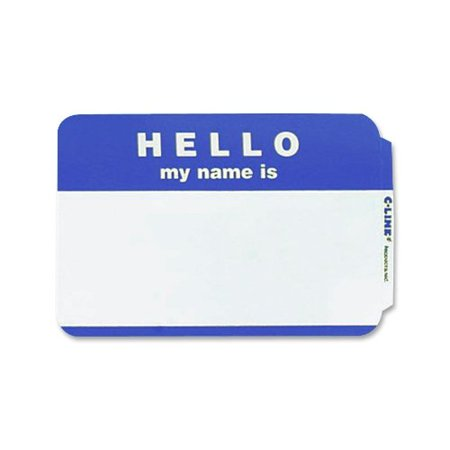 C-Line Hello Badges 92235 (Line Badge)