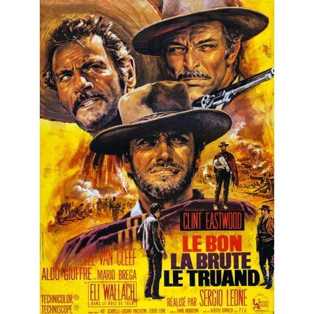 Lee French Poster - The Good The Bad And The Ugly French Poster Art Eli Wallach Clint Eastwood Lee Van Cleef 1966 Movie Poster Masterprint