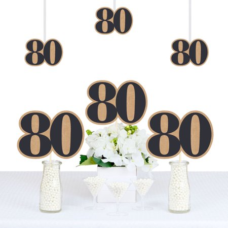 80th Milestone Birthday - Dashingly Aged to Perfection - Decorations DIY Party Essentials - Set of 20](80 Items For 80th Birthday)