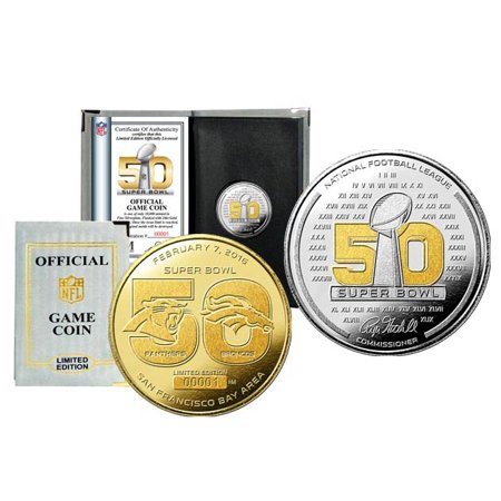 - Carolina Panthers vs. Denver Broncos Highland Mint Super Bowl 50 Dueling Two-Tone Flip Coin - No Size
