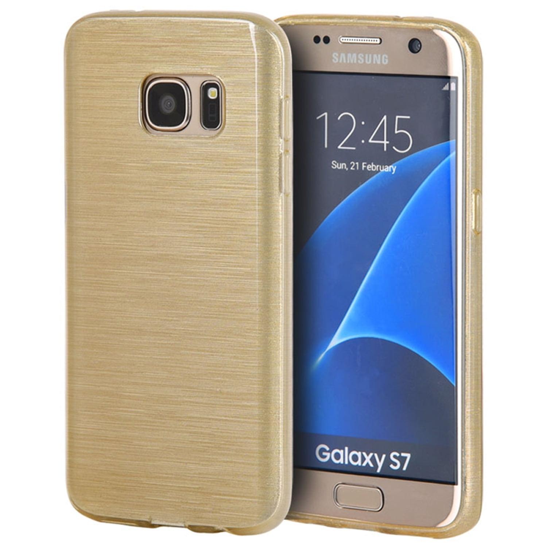 Samsung Galaxy S7 Case, by Insten Crystal Skin Transparent Silk TPU Rubber Skin Gel Case Cover For Samsung Galaxy S7