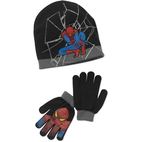 Boys' Spiderman Knit Beanie and Gloves Set