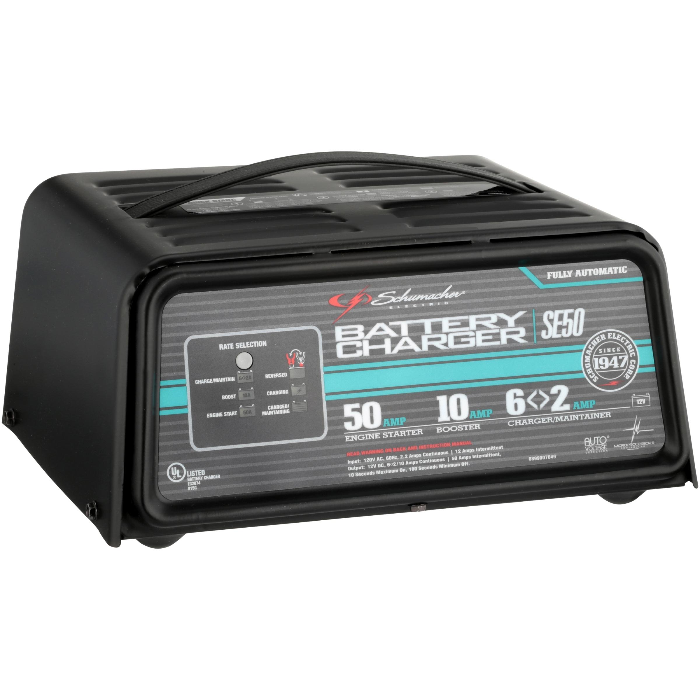 Schumacher Se50 12v Fully Automatic Battery Charger Walmart Com
