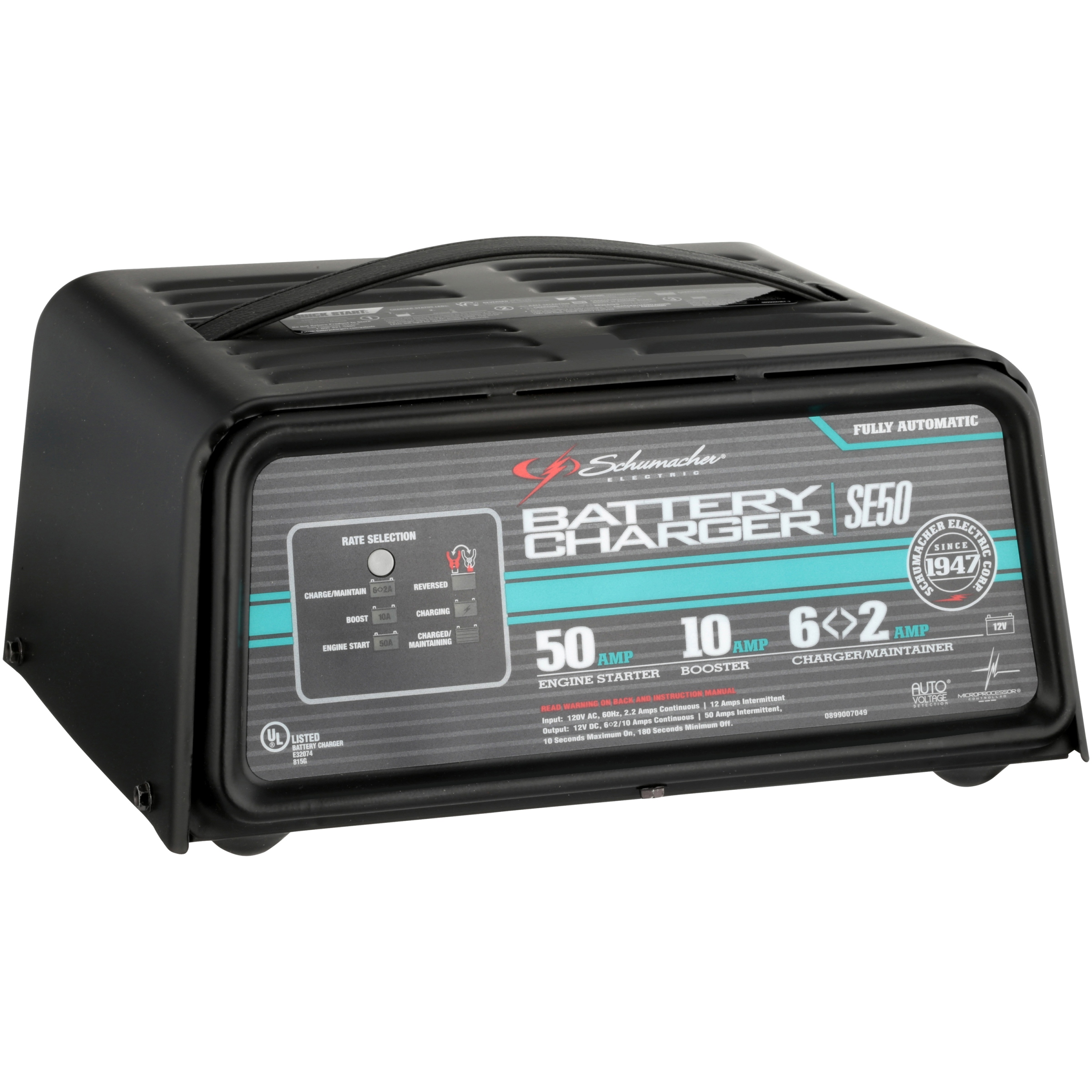 Schumacher® SE50 12V Fully Automatic Battery Charger