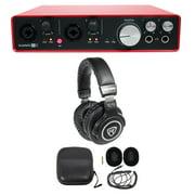Focusrite SCARLETT 6I6 2ndGen 192kHz Audio Recording Interface+Studio Headphones