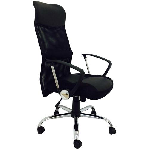 Hodedah Mesh High Back Office Chair, Black