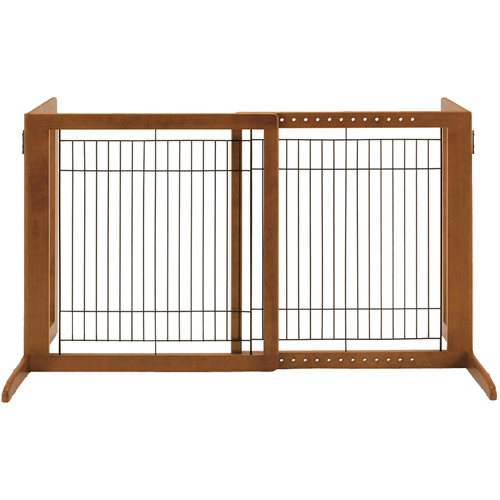 Richell Freestanding HS Pet Gate, Brown