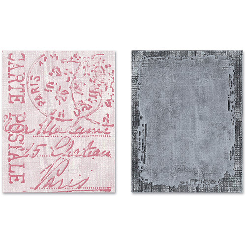 Tim Holtz Alterations Texture Fades Embossing Folders, Distressed Frame & Postal