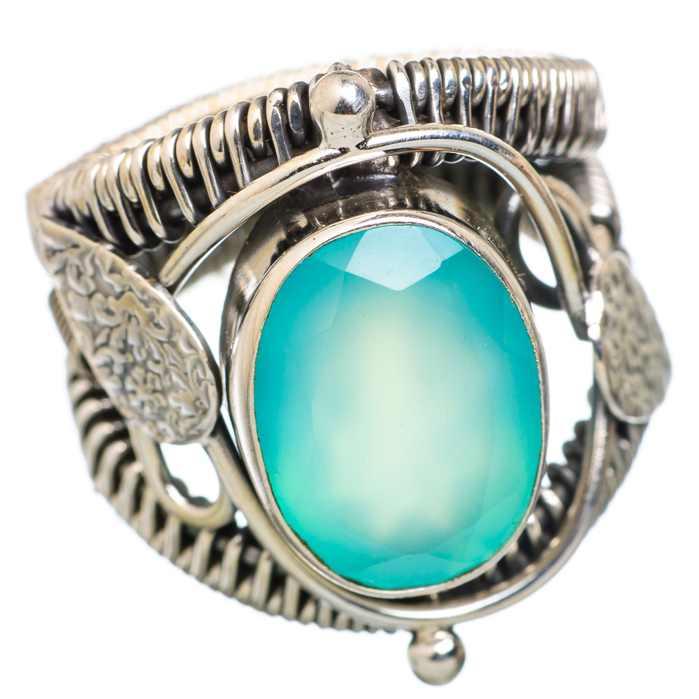 Ana Silver Co Aqua Chalcedony 925 Sterling Silver Ring Size 7.75 RING825702