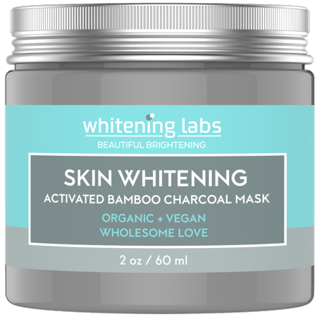 Skin Whitening Cream Mask. Activated Bamboo Charcoal Mask for Face Hands Body. Use for Dark Spots Age Spot Corrector Remover 2