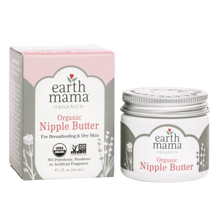 Earth Mama Organic Nipple Butter for Breastfeeding and Dry Skin (2 Fl. (The Best Nipple Cream For Breastfeeding)