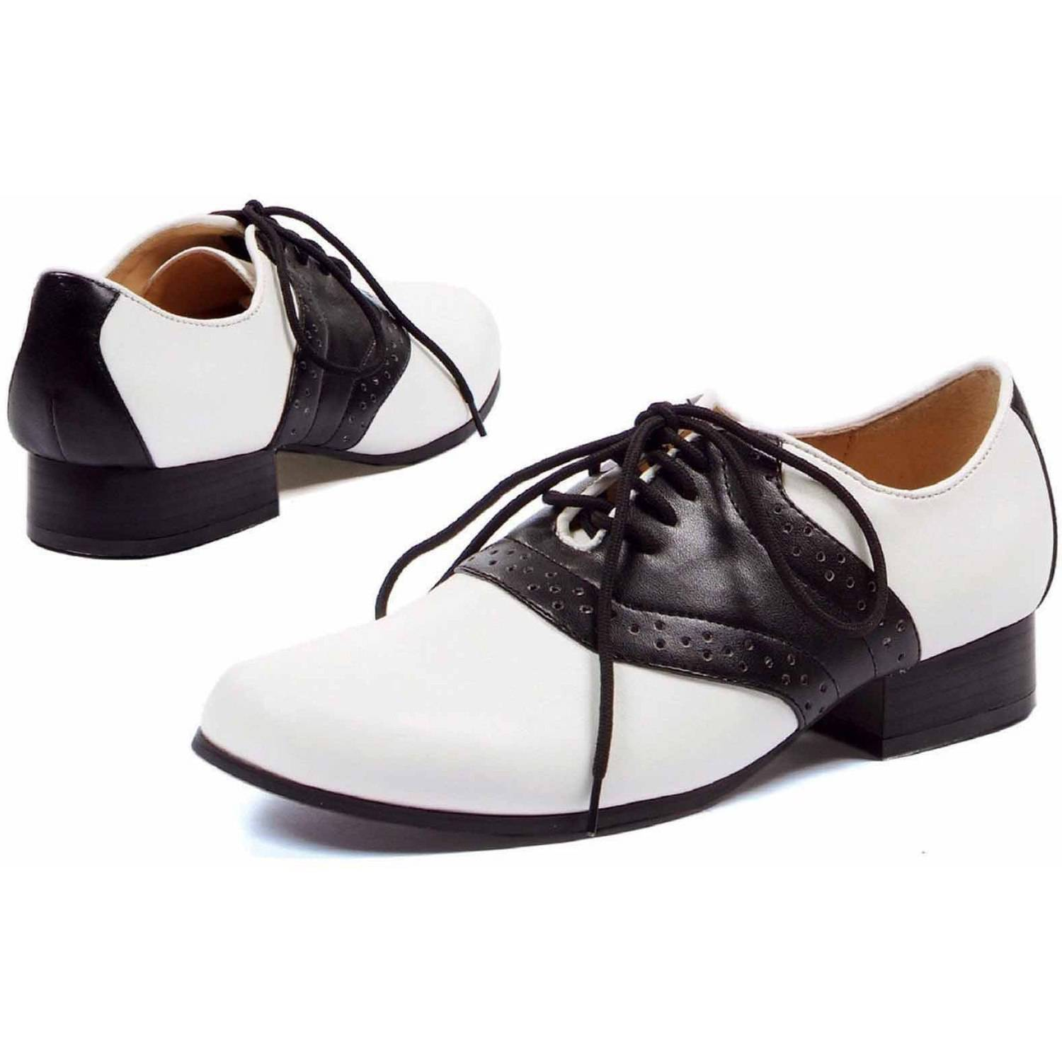 Saddle Black/White Shoes Women's Adult Halloween Accessory