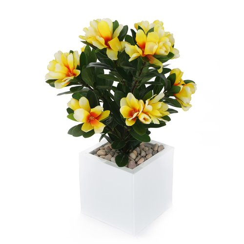 Bay Isle Home Artificial Desktop Flowering Plant in Pot