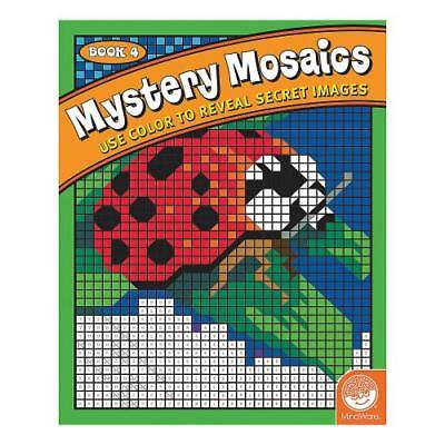 IN-13726946 MindWare  Mystery Mosaics - Coloring Book 4