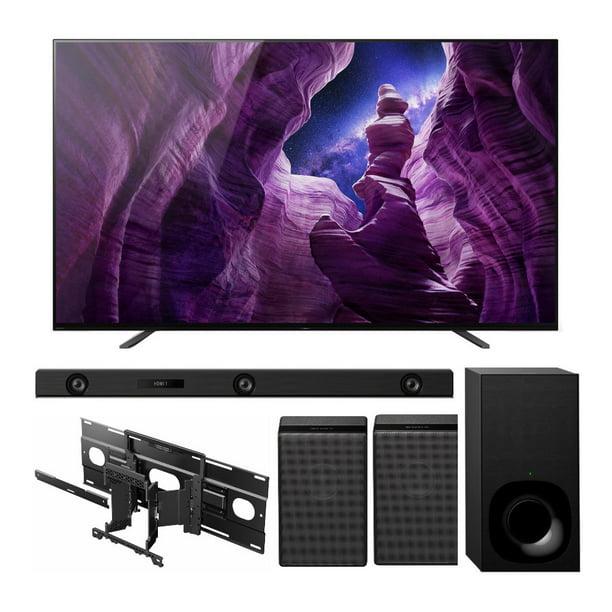 Sony XBR-65A8H 65-Inch BRAVIA OLED 4K Smart TV with Soundbar and Speakers Bundle