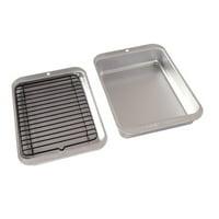 "Nordic Ware Naturals Compact Ovenware 3-Piece Set, Aluminum, 5 Year Warranty,10"" X 7"" X 1.88"""