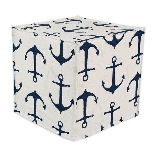 Brite Ideas Living Anchors Slub Seamed Ottoman