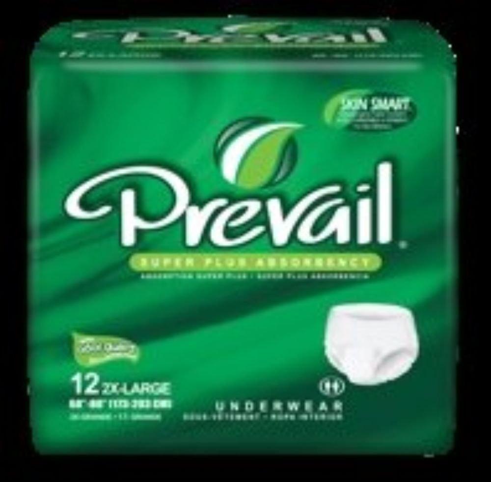 First Quality Absorbent Underwear Prevail  Pull On 2X-Large Disposable Heavy Absorbency (#PV-517, Sold Per Pack)