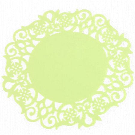 Lace Flower Doilies Silicone Coaster Tea Cup Mats Pad Insulation Placemat -