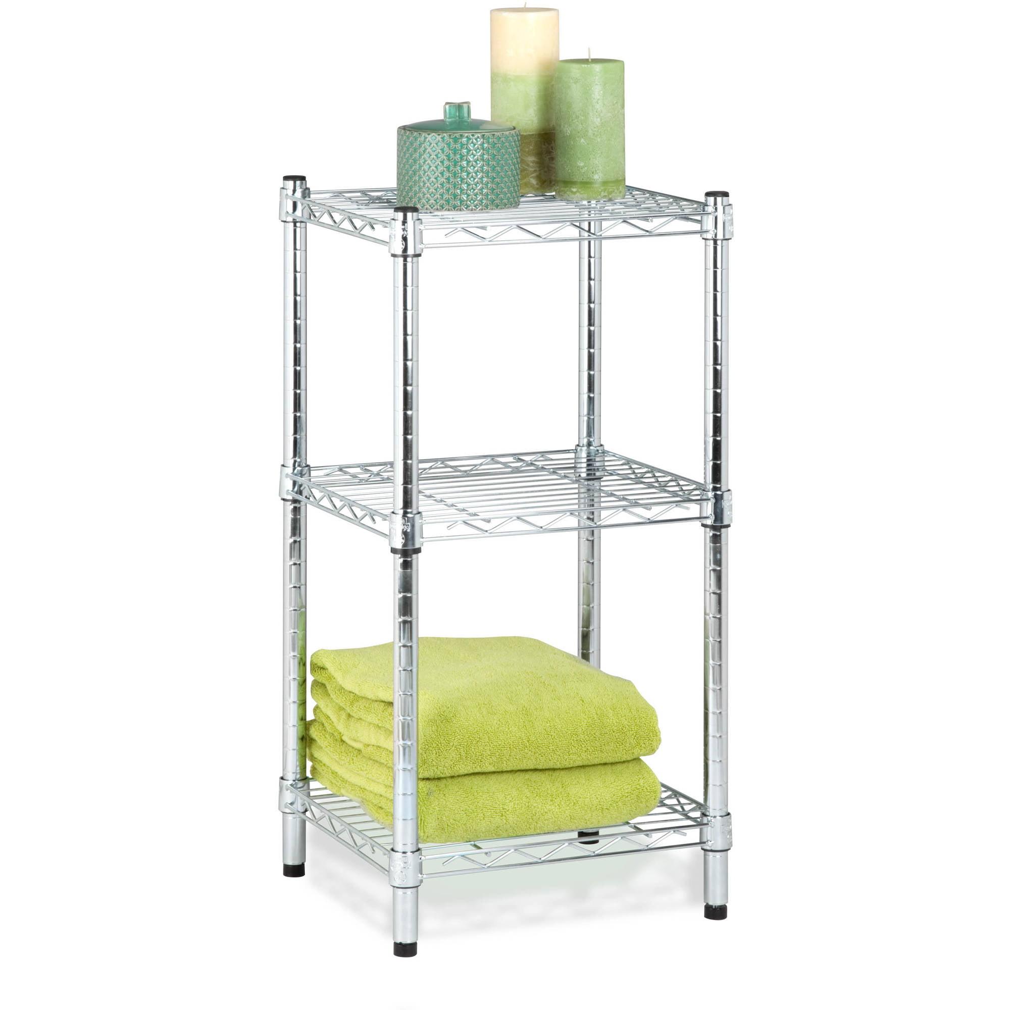 Honey Can Do 3-Shelf Steel Storage Shelving Unit, Chrome - Walmart.com