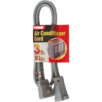 Prime Air Conditioner and Major Appliance Extension Cord, Gray, 3 Feet