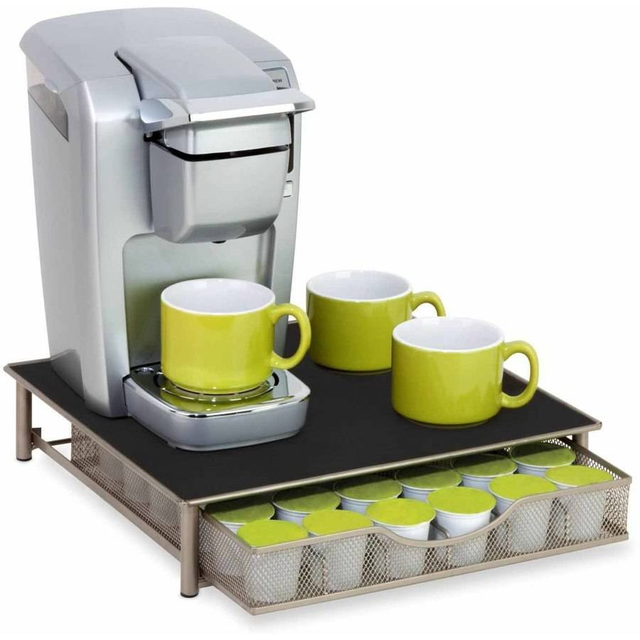 Honey-Can-Do Coffee Pod Drawer Holder, Silver