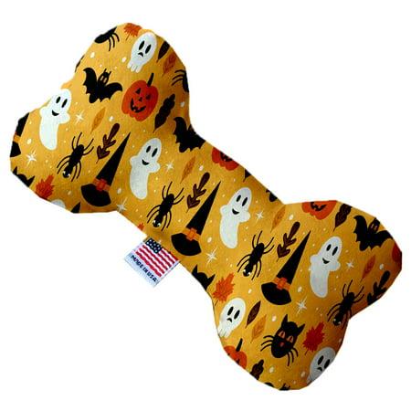 Happy Halloween 6 Inch Canvas Bone Dog Toy](Happy Halloween Bones)
