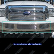 Compatible with 2005-2007 Ford Excursion F250 F350 F450 F550 Billet Grille Grill Combo Insert