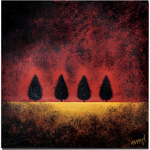"Trademark Art ""On Fire"" Canvas Art by Nicole Dietz"