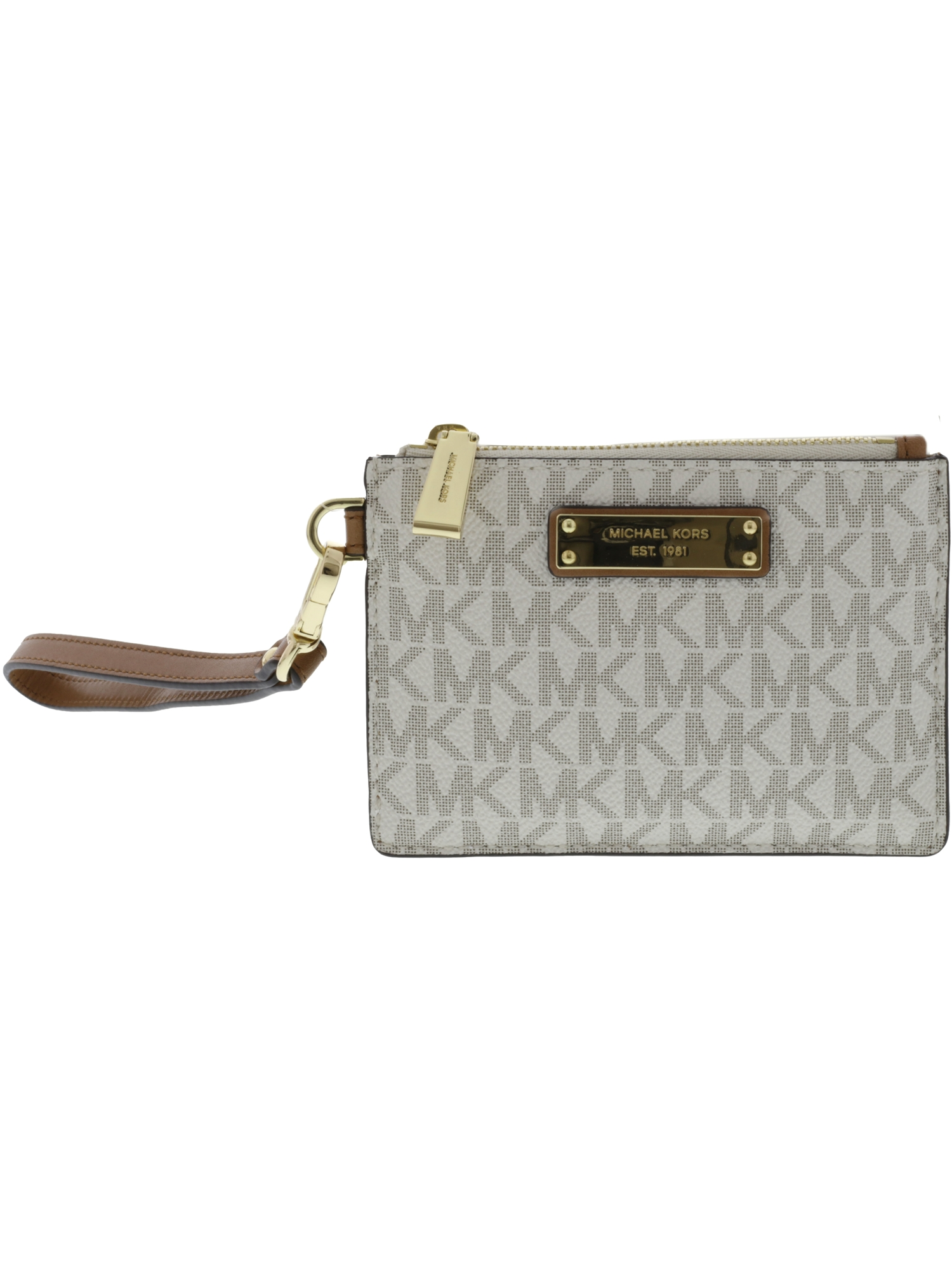 Michael Kors Women's Mercer Logo Fabric Coin Purse - Vanilla