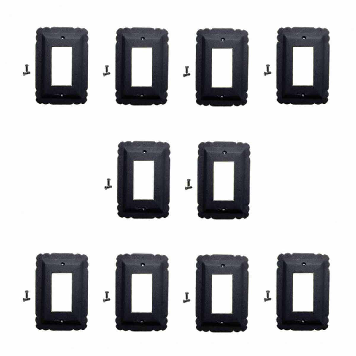 10 Switchplate Black Steel SIngle GFI RSF| Renovator's Su...