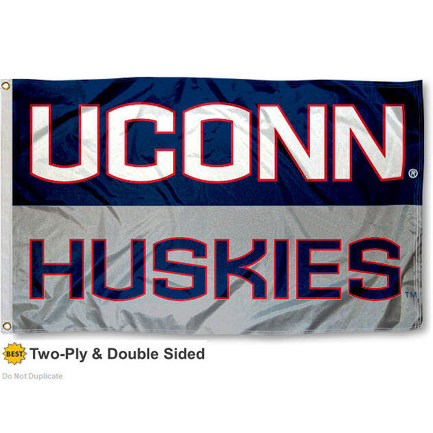 Connecticut Huskies Two Sided Flag