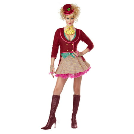 Crazy Ladies Costumes (Adult Crazy Mad Hatter Sexy Womens Halloween)