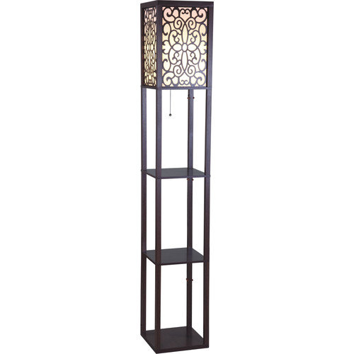 Sintechno Wooden Shelf 63 Floor Lamp Walmart Com