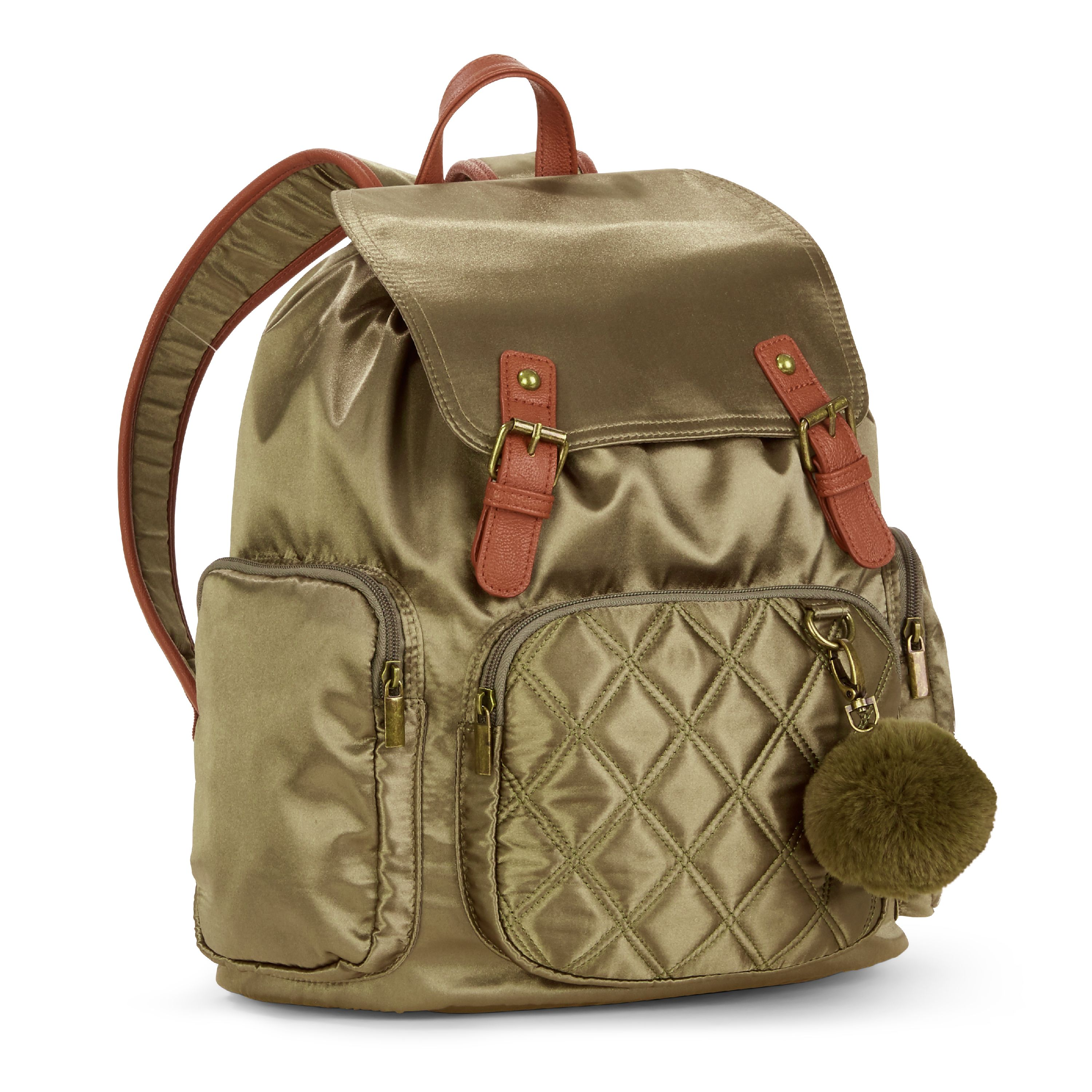 No Boundaries Olive Satin Cargo Backpack