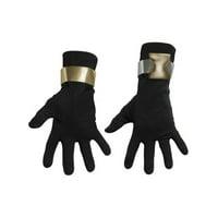 Deluxe Adult GI Joe Snake Eyes Black Ninja Costume Gloves