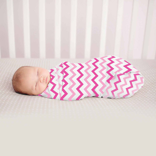 Summer Infant SwaddleMe Muslin Blanket, Pink Chevron